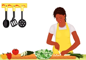 bigstock_African_Woman_Preparing_Fresh__5327716