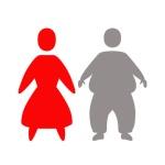 man and woman abstract